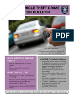 Auto Theft Bulletin