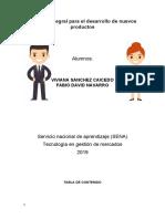 PROCESO INTEGRAL PARA EL DESARROLLO DE NUEVOS PRODUCTOS