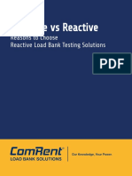 Resistive vs Reactive - Reason to Choose Reactive Load Bank Testing Solustions [ComRent]
