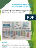 ESTRUCTURA ORGANIZACIONAL DE LA UPC TRES