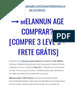 → MelaNNun AGE Comprar? [COMPRE 3 Leve 5 + FRETE Grátis]