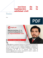 Efectos nocivos de la contractualización de la responsabilidad civil