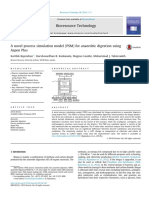 A novel process simulation model (PSM) for anaerobic digestion using Aspen Plus