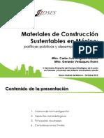 Materiales de Construcción Sustentables en México_ políticas públicas y desempeño ambiental