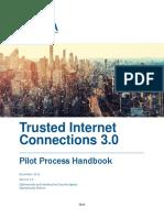 Draft TIC 3.0 Pilot Process Handbook
