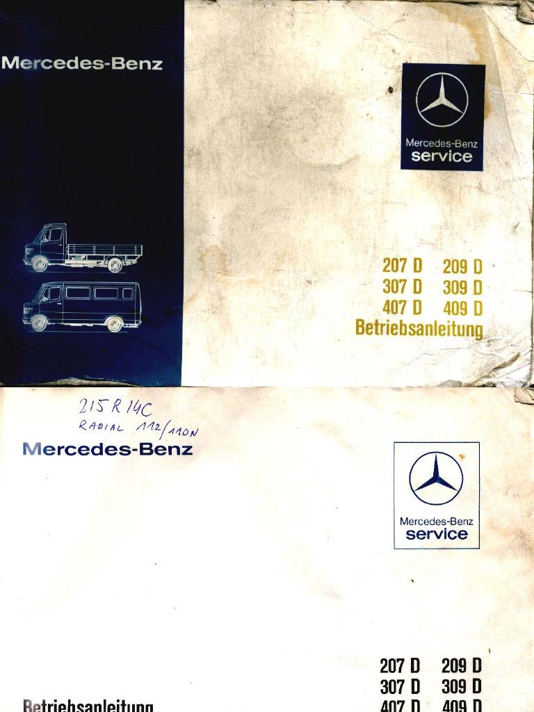 Car Repair Manual Mercedes 207_409D Manual