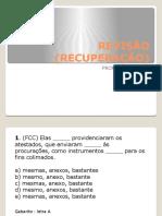 REVISÃO (RECUPERAÇÃO)
