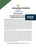 Tnafalgar Council News Release 2