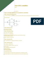 Design of Single Stage JFET Amplifier