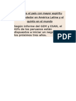 Lectura_Perú país emprendedor