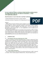 Evaluation of the scatter of the postpeak behaviour of fibre reinforced concrete in bending