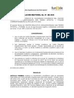 resolucion rectorial coronavirus