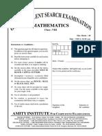 GTSE_Online_Class VIII_Maths