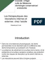 -6- les thérapeutiques des résorptions internes et externes