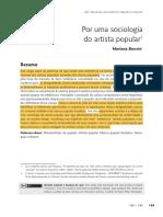Por uma sociologia do artista popular - Mariana Barreto