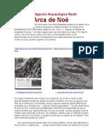 BASES CIENTIFICAS DEL ARCA DE NOE_Investigación Arqueológica Wyatt