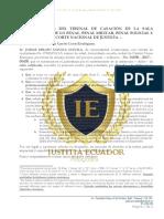 Representación Tribunal CASACIÓN