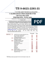 US Army Calibration Tek 2465 TB-9-6625-2293-35