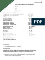 Transformer Loss Evaluation Sheet