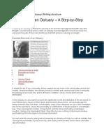 Obituary Writing structure