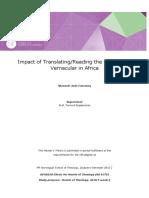 Nkwawir Jude Fanwong Impact of Translating / Reading the Bible