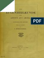 Hirschberg 1899 - Die Augenheilkunde des Aëtius aus Amida