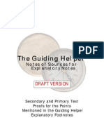 The Guiding Helper - Notes of Sources of Explanatory Notes