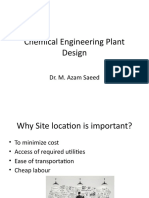 Lecture 7 Selection of Site for Chemical Plant