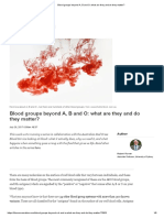 Blood groups beyond A, B and O_ what are they and do they matter_