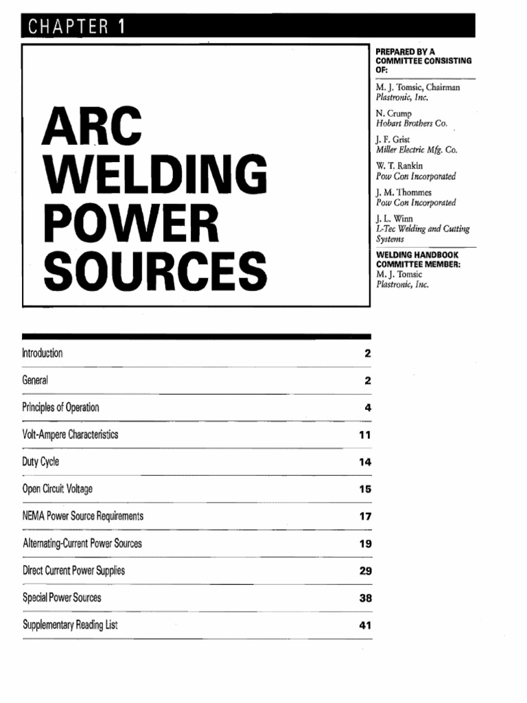Arc Welding Power Sources Pfastronic Inc Hobart Brothers Co Miller Electric Mfg Power Inverter Rectifier