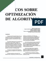 Topicos Sobre Optimizacion De Algoritmos
