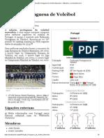 Seleção Portuguesa de Voleibol Masculino – Wikipédia, a enciclopédia livre
