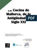 La Cocina de Mallorca, de la antigüedad al siglo XXI