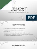 Introduction to hematology 2