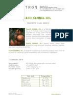 properties of peach oil