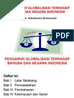 2. AGUS BROTOSUSILO-PENGARUH GLOBALISASI HUKUM TERHADAP BANGSA DAN NEGARA INDONESIA.ppt