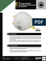 Respirador Descartable N95 M920V Ficha Técnica
