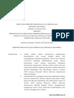 Salinan Permendikbud NomPERATURAN MENTERI PENDIDIKAN DAN KEBUDAYAAN REPUBLIK INDONESIA NOMOR 19 TAHUN 2020or 19 Tahun 2020