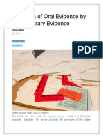Exclusion of Oral Evidence by Documentary Evidence