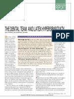 The Dental Team and Latex Hypersensitivity ADA Council 1999