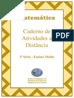 Caderno de atividades de matemática a distância - quarentena 2ª ano ensino médio