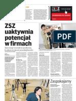ZSZ uaktywnia potencjał w firmach Puls Biznesu 29.12.2010