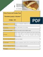 ficha tecnica Omelete queijo e fiambre