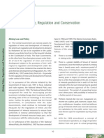 Mining Policy, Regulation and Conservation