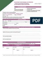 Bulletin Inscription