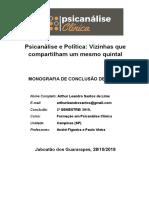 Psicanálise e Política, vizinhas que compartilham o mesmo quintal.doc