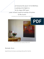 2006 interview with Joseph Nechvatal by Elsa Ayache on painting in the digital era