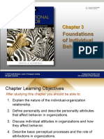 CHAPTER 3 Foundations of Individual Behavior