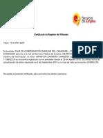 Certificado de empleo 2