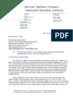 Steamship Authority letter to Gov. Baker